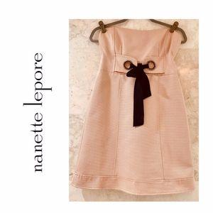 NANETTE LEPORE Her Majesty Bow Dress SZ 4